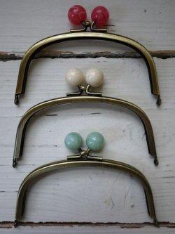 画像2: ヘキサゴンの玉付き口金財布/口金カラー3種♪