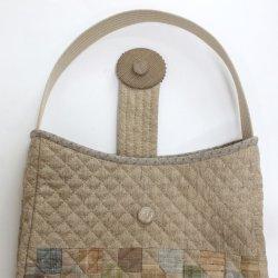 画像3: フラップ付きバッグ(手提げまたはショルダー)/バラの刺繍
