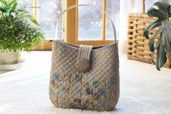 画像1: フラップ付きバッグ(手提げまたはショルダー)/バラの刺繍