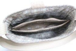 画像4: フラップ付きバッグ(手提げまたはショルダー)/バラの刺繍