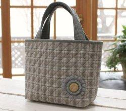 画像1: ロゼットモチーフ付きバッグ