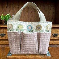 画像1: お花のトートバッグ